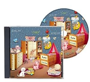 Personalisierte SCHLAFLIED CD gesungen mit dem Namen IHRES Kindes / Wunschname (Zur Taufe, Taufgeschenk, Geburtsgeschenk …) wirkungsvoller als ein MUSIK MOBILE / Jeder NAME ist möglich ! Spezialanfertigung für Kunde – Inkl. GRATIS A4 Geburtsbild mit allen Geburtsdaten / Das Schlaflied der Schlaflieder !