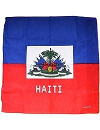 Bandana drapeau haiti masque coton port au prince