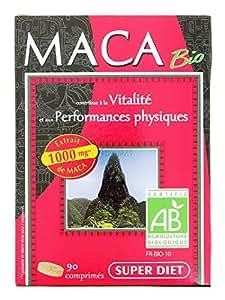 SuperDiet Maca Tonus Désir Vitalité Performance physique 90 cp