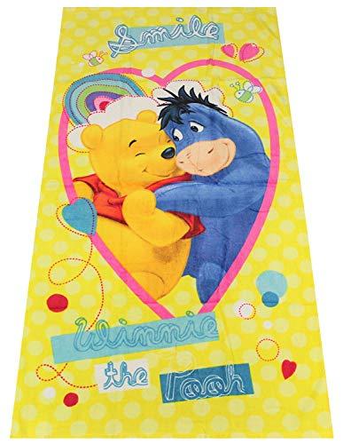 Winnie the Pooh Smile Handtuch, Strandtuch, Motivhandtuch für Kinder, 70 x 140 cm, 100{16a79188395627c3fe125af7061df4646edb7b8b9e5536b43bcc82d7ce895010} Baumwolle