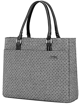 DTBG Damen Umhängetasche Nylon Handtasche Shopper Freizeit Tasche / 15,6 Zoll Laptop Tasche für 15 - 15,6 Zoll...