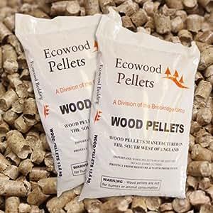 Wood fuel pellets Full Pallet 1050kg (70 x 15kg bags ...