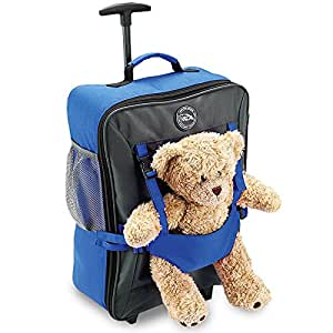 Cabin Max Bear Childrens Luggage Carry On Trolley Suitcase with adjustable teddy pocket