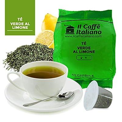 50 Capsules compatibles Thé vert au citron Nespresso - Nespresso 50 x Dosettes/Capsules de thé Nespresso® Thé vert au citron - 50 capsules compatibles Nespresso - Il Caffè Italiano