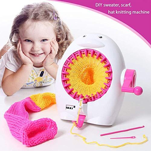 HKANG® DIY Mädchen Strickmaschine Pinguin Form Handschütteln Strickmaschine Kinder Stricken Kit für Pullover Schale Stehend Ideales Geschenk