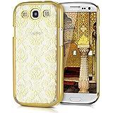 kwmobile Crystal Case Hülle für Samsung Galaxy S3 / S3 Neo mit Barock Tapete Design - transparente Schutzhülle Cover klar in Gold Transparent