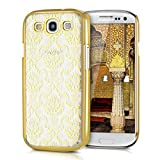 kwmobile Cover per Samsung Galaxy S3 / S3 Neo - Custodia Rigida Trasparente per Cellulare - Back Case Cristallo in plastica Oro/Trasparente