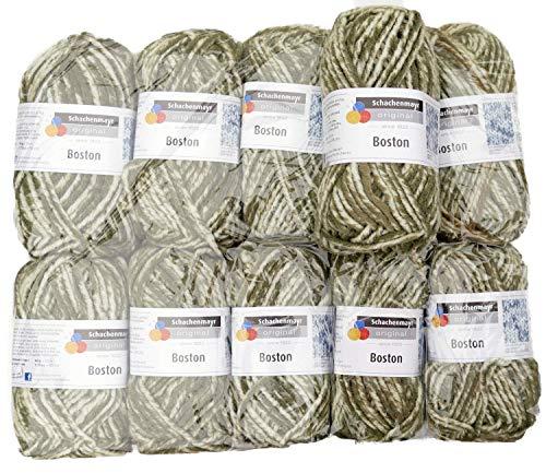 Boston Wolle (Boston 00173 oliv denim ca. 55 m 10x50 g)