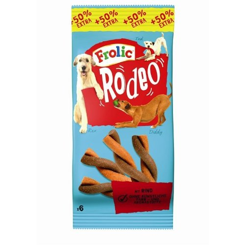 frolic rodeo Frolic Snack Rodeo mit Rind | 18x6 Stück Hundesnack Kausnack