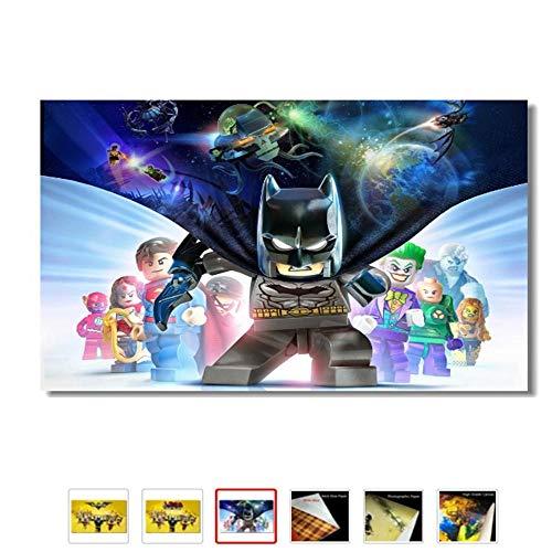 JWLSDT 5 Leinwandbilder Cartoon Lego Film Kinder Anime Poster Wohnkultur Bilder F/ür Wohnzimmer /Ölgem/älde Mit Rahmen