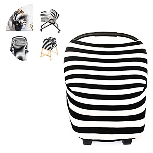 YeahiBaby Baby Nursing Breastfeeding Scarf Strip Patterned Shawl Car Seat Cover For Baby