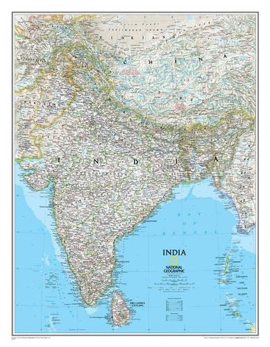 India Classic, Tubed: Wall Maps Countries & Regions (National Geographic Reference Map)