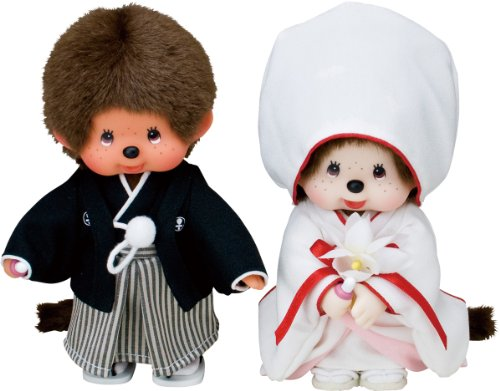 Monchhichi Kimono wedding set japan import