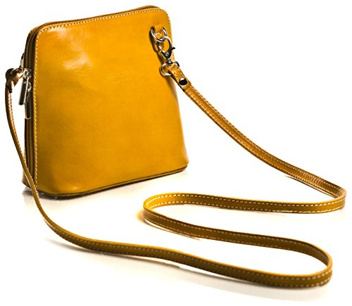 Big Handbag Shop, Borsa a tracolla donna One Green - Yellow Trim