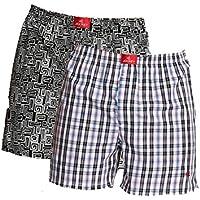 Jockey USA Originals Printed Boxer Shorts - Assorted Pack of 2 (Medium)