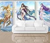 Yosot 3D Fototapete Custom Kids Wandbild Wohnzimmer Chinesische Anime Schönheit 3D Malerei Sofa Hintergrund Aufkleber Tapeten Für Wände 3 D-450Cmx300Cm