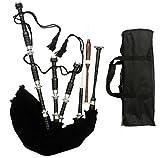 Cornamusa scozzese in palissandro nero, cornamusa irlandese pronta all'uso