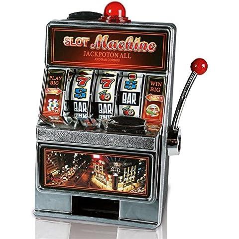 Out Of The Blue Slot Machine con Suono & Luce (C) Salvadanio, Plastica, Nero/Rosso/Metallico, 33x29.5x42 cm
