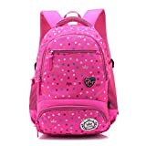 Reelay mee 18 L Polyester, Light weight, Day-trip / School Backpack - 2617 (Rose Red)