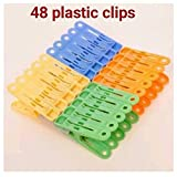 #8: Generic Plastic 48-Pieces Clips for Drying (Multicolour)