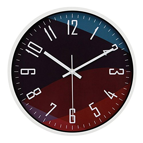 Orologio da parete orologio soggiorno camera da letto orologio da parete al quarzo creativo moderno tavolo muto tavolo sospeso personalità grande cerchio ( color : white )