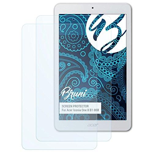 Bruni Schutzfolie kompatibel mit Acer Iconia One 8 B1-860 Folie, glasklare Bildschirmschutzfolie (2X)