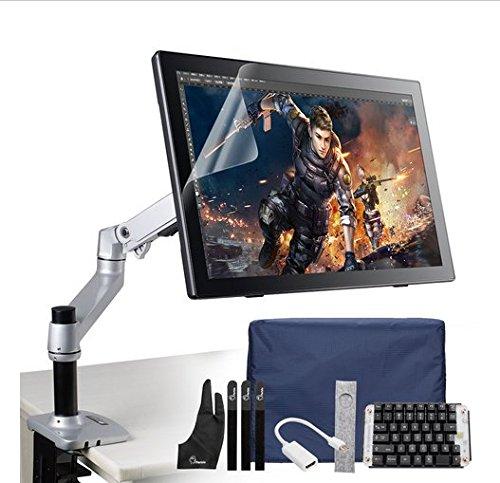 Preisvergleich Produktbild Gowe 54,6cm IPS Display LCD Art Graphic Tablet Monitor w/Akku gratis Stift + Mechanica Gaming Tastatur + Schreibtisch Halterung Ständer