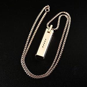 Damen Kette Kompatibel mit Fitbit Flex 2 Band, Nourich Einzigartige Metallkette Anhänger Magnethalter Schmuck Halskette Necklaces Halsketten Geschenk Jewelry Gliederkette