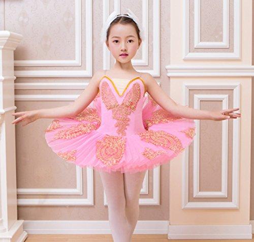 HUOFEINIAO Kinder Cygnet Dance Tutu Ballett Rock Schwanensee Tutu Kind Pailletten Professional Ballett Tutu ()