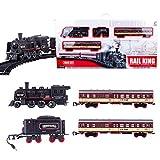 ColiCor Modelleisenbahn Lokomotive H0,Elektrische Eisenbahn Set,Batterieantrieb Bahn Reisezug Set Für Kinder
