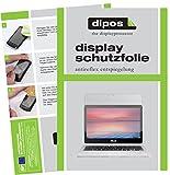 dipos I 2X Schutzfolie matt passend für Asus Chromebook Flip 2 Folie Bildschirmschutzfolie