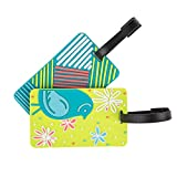 Travelon Set of 2 Luggage Tags, Retro/Bird