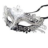 Coofit Masque femme/homme Masque Vénitien en Métal Masque venise/ au bal carnaval/Halloween /Masquerade/Costume Party