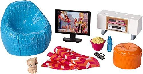 Preisvergleich Produktbild Mattel Barbie DVX46 - Inneneinrichtung: Fernsehecke und Sessel, Ankleidepuppen-Zubehör