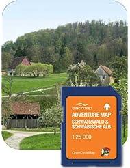 Satmap GPS System Adventure Map Deutschland 1:25000 Schwarzwald und schwäbische Alb, schwarz, DE-REG-ADV-SD-002