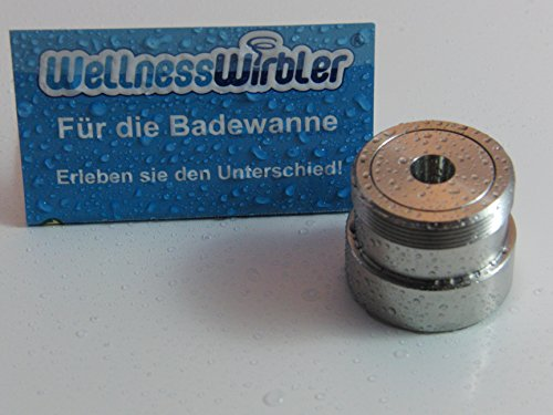 Preisvergleich Produktbild Wellnesswirbler ® für die Badewanne - M24 Gewinde - Wasserwirbler / Wirbler