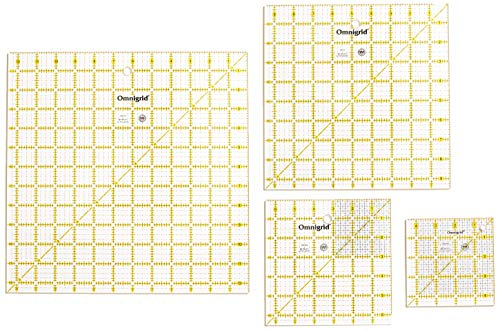 Omnigrid Ruler Set-Value Pack 1 4/Pkg -