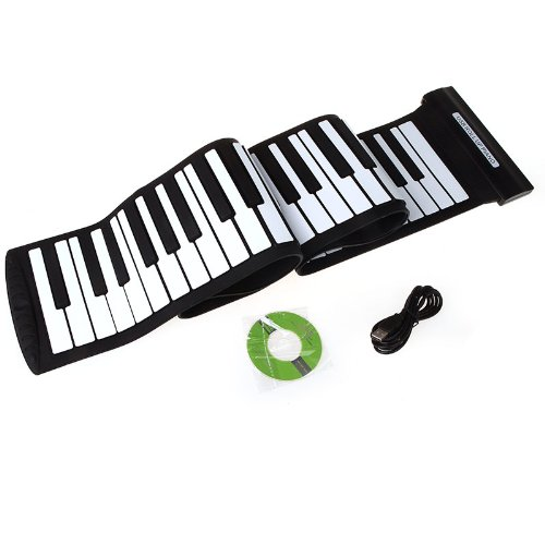 Andoer USB 88 Keys MIDI Roll up Electronic Piano Keyboard Silicone Flexible...