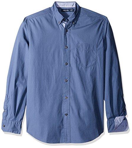 nautica-mens-long-sleeve-dot-print-button-down-shirt-blue-indigo-large