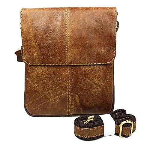 Baigio Sac en Cuir Sac de Messager Sac en bandoulière Besace Sacoche Sac de loisir Sac de Voyage Sac à la Mode Sac pour Homme,