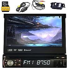 Eincar WinCE 6.0 Lecteur DVD de voiture 1 Din GPS Navigation Radio stéréo de voiture Bluetooth Support / Radio / SD USB / caisson de basses / commande au volant / AUX / iPod (Caméra de recul gratuit et carte de 8 Go Carte inclus)
