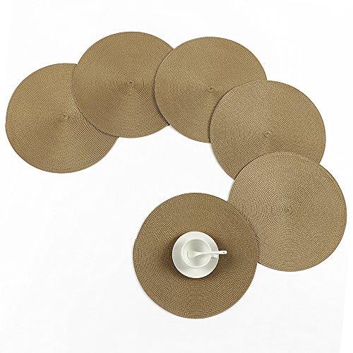 JYCRA, mantel individual redondo trenzado alta calidad
