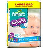 Pampers Active Fit Size 5 (Junior) Large Nappies - Pack of 48 by GLKB4