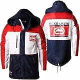 Ecko Unltd Herren Jacken Mens Jacket Camber Hooded Coat Yacht Style White/Red/Navy S-XL E7003747 (S)