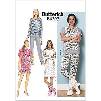 New Look Damen & Herren Leicht Schnittmuster 6404 Schlafanzug ...