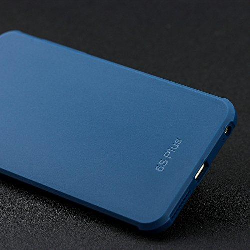 iPhone 6 Plus hülle,iPhone 6s Plus hülle,Lizimandu Case Für apple iphone 6plus/6s plus aus TPU Silikon - Handy Schutzhülle Cover(Grau/Gray) Blau/Blue
