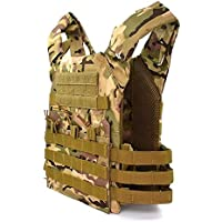 Caza Táctica Armadura del Cuerpo JPC Molle Plate Carrier Chaleco Exterior CS Juego Paintball Airsoft Chaleco Equipo Militar Lightweight (Color : CP)