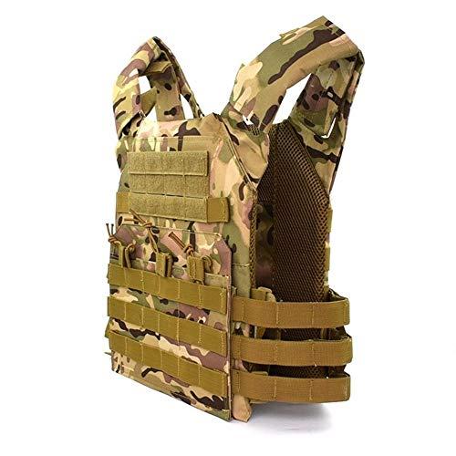 LUOSI Caza Tactical Body Armor JPC Molle Chaleco Portador de Placa Juego al Aire Libre CS Juego Paintball Airsoft Chaleco Equipo Militar (Color : CP, Size : One Size)