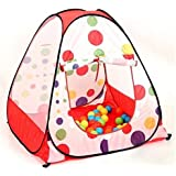 Portable Foldable Polka Dot Pop Up Playhouse Tent Toys