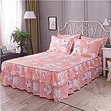 pour Couvre-lit Jupe de lit Simple Couvre-lit Simmons Housse de Protection Couvre-lit...